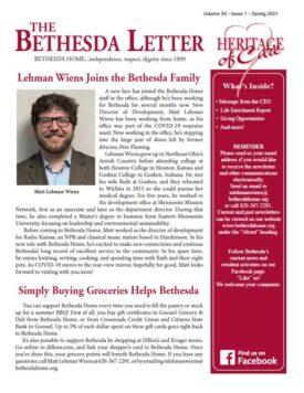 March 2021 Bethesda Newsletter